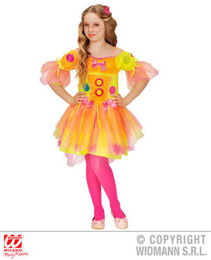 Girls Kids Childs Neon Candy Girl Fancy Dress Costume Fairy Tale Outfit 4-13 Yrs