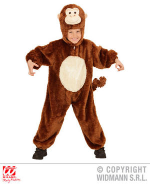 Childs Kids Childrens Plush Fluffy Monkey Fancy Dress Costume Outfit 1-5 Yrs