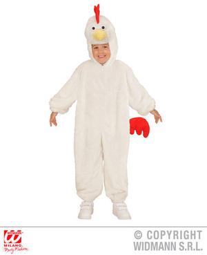 Childs Kids Childrens Plush Fluffy Chicken Fancy Dress Costume Outfit 1-5 Yrs