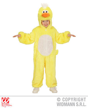 Childs Kids Childrens Plush Fluffy Duck Fancy Dress Costume Outfit 1-5 Yrs