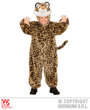 Childs Kids Childrens Plush Fluffy Leopard Fancy Dress Costume Outfit 1-5 Yrs