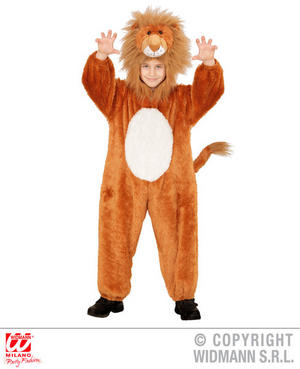 Childs Kids Childrens Plush Fluffy Lion Fancy Dress Costume Outfit 1-5 Yrs