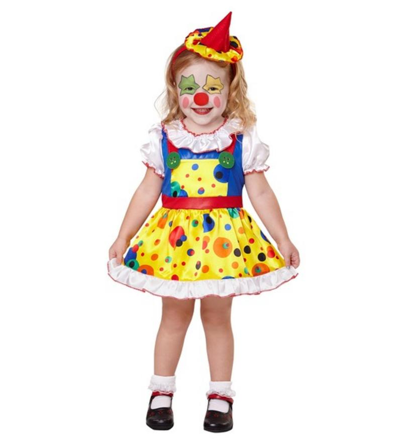 girls kids childs circus clown girl fancy dress costume halloween outfit 1 5 yrs