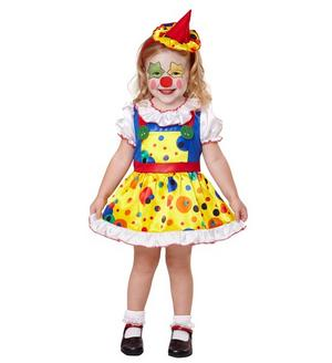 Girls Kids Childs Circus Clown Girl Fancy Dress Costume Halloween Outfit 1-5 Yrs