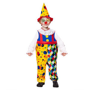 Boys Kids Childs Circus Clown Fancy Dress Costume Halloween Outfit 2-5 Yrs