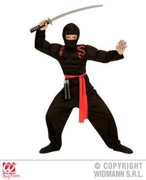 Boys Kids Childs Super Ninja Warrior Fancy Dress Costume Outfit 5-13 Yrs