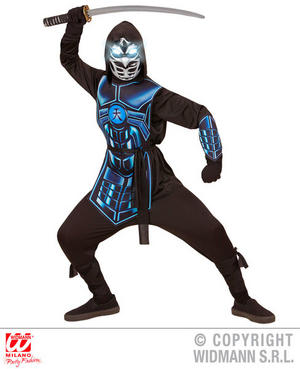 Boys Kids Childs Cyber Ninja Fancy Dress Costume Outfit Children 5-16 Yrs