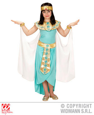 Girls Childs Eqyptian Queen Blue Fancy Dress Costume Book Cleopatra 4-13 Yrs