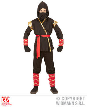 Boys Kids Childs Ninja Fancy Dress Costume Warrior Outfit Children 4-13 Yrs