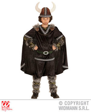 Boys Kids Childs Viking Chief Fancy Dress Costume Vikings Outfit 5-13 Yrs