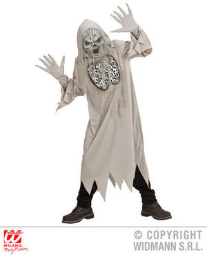 Boys Kids Childs Grey Howling Ghost Halloween Fancy Dress Costume Outfit 5-16 Yrs