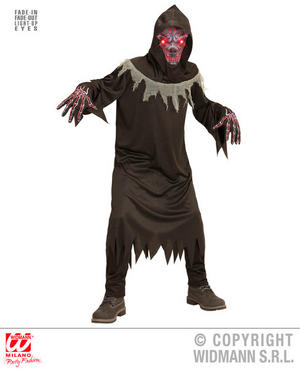 Boys Kids Childs Demon Halloween Fancy Dress Costume Outfit Children 5-16 Yrs