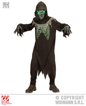 Boys Kids Childs Grim Reaper Halloween Fancy Dress Costume Outfit 5-16 Yrs