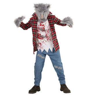 Boys Kids Childs Grey Werewolf Halloween Fancy Dress Costume Outfit 5-16 Yrs