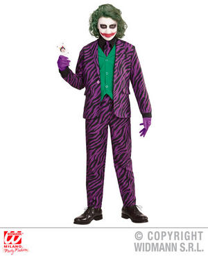 Boys Kids Childs Evil Joker Fancy Dress Costume Halloween Outfit 4-16 Yrs