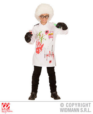 Boys Kids Childs Mad Scientist Halloween Fancy Dress Costume Outfit 5-13 Yrs