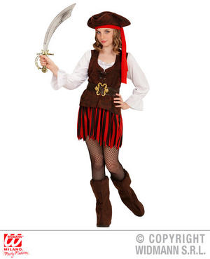 Girls Kids Childs Caribbean Pirate Halloween Fancy Dress Costume Outfit 4-13 Yrs