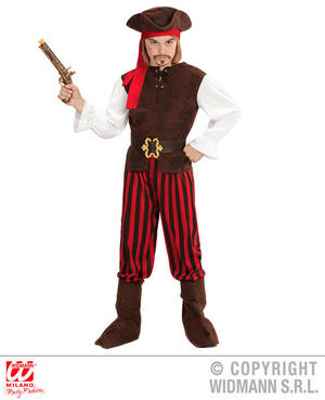 Boys Kids Childs Caribbean Pirate Halloween Fancy Dress Costume Outfit 4-13 Yrs