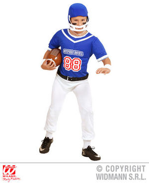 Boys Kids Childs American Football Player Fancy Dress Costume Outfit 5-13 Yrs