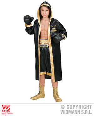 Boys Kids Childs World Boxing Boxer Fighter Champion Fancy Dress Costume Outfit 8-16 Yrs