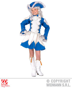 Girls Childs Majorette Blue Fancy Dress Costume Marching Band Outfit 4-16 Yrs