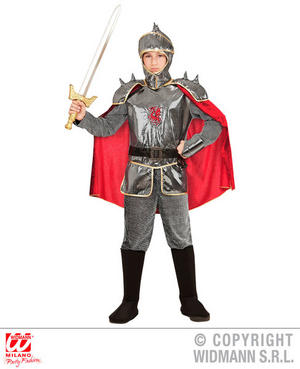 Boys Kids Childs Medieval Knight Fancy Dress Costume Outfit Childrens 5-13 Yrs