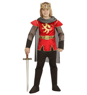 Boys Kids Childs King Arthur Red Fancy Dress Costume Book Week Outfit 4-13 Yrs