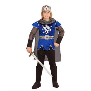 Boys Kids Childs King Arthur Blue Fancy Dress Costume Book Week Outfit 4-13 Yrs