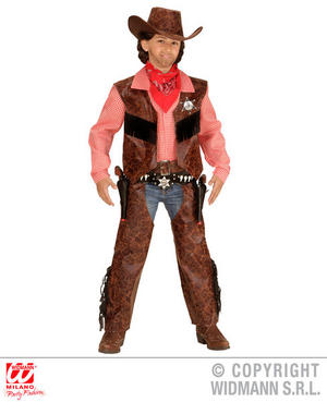 Boys Kids Childs Cow Boy Wild West Fancy Dress Costume Outfit 5-13 Yrs