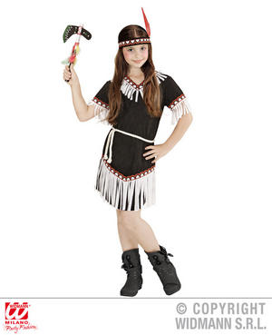 Girls Kids Childs Native American Fancy Dress Costume Outfit Children 2-13 Yrs