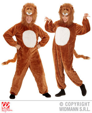 Unisex Adult Plush Lion Fancy Dress Costume Animal Outfit