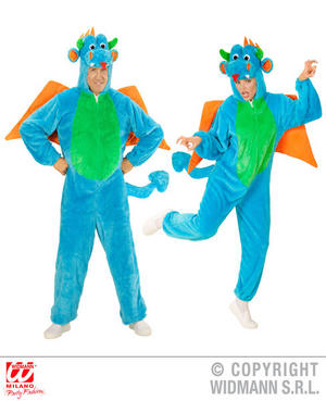 Unisex Adult Plush Dragon Fancy Dress Costume Fairy Tale Outfit