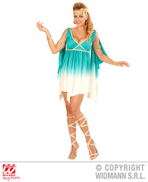 Womens Ladies Olympus Goddess Fancy Dress Costume Ancient Greek Outfit