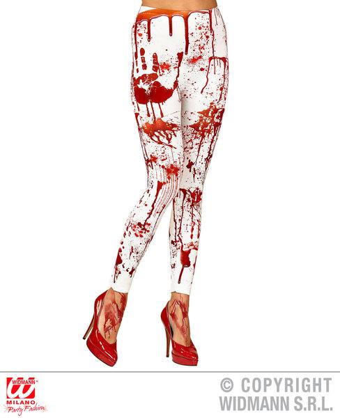 Womens Ladies Bloody Leggings Halloween Fancy Dress Costume Accessory 70Den