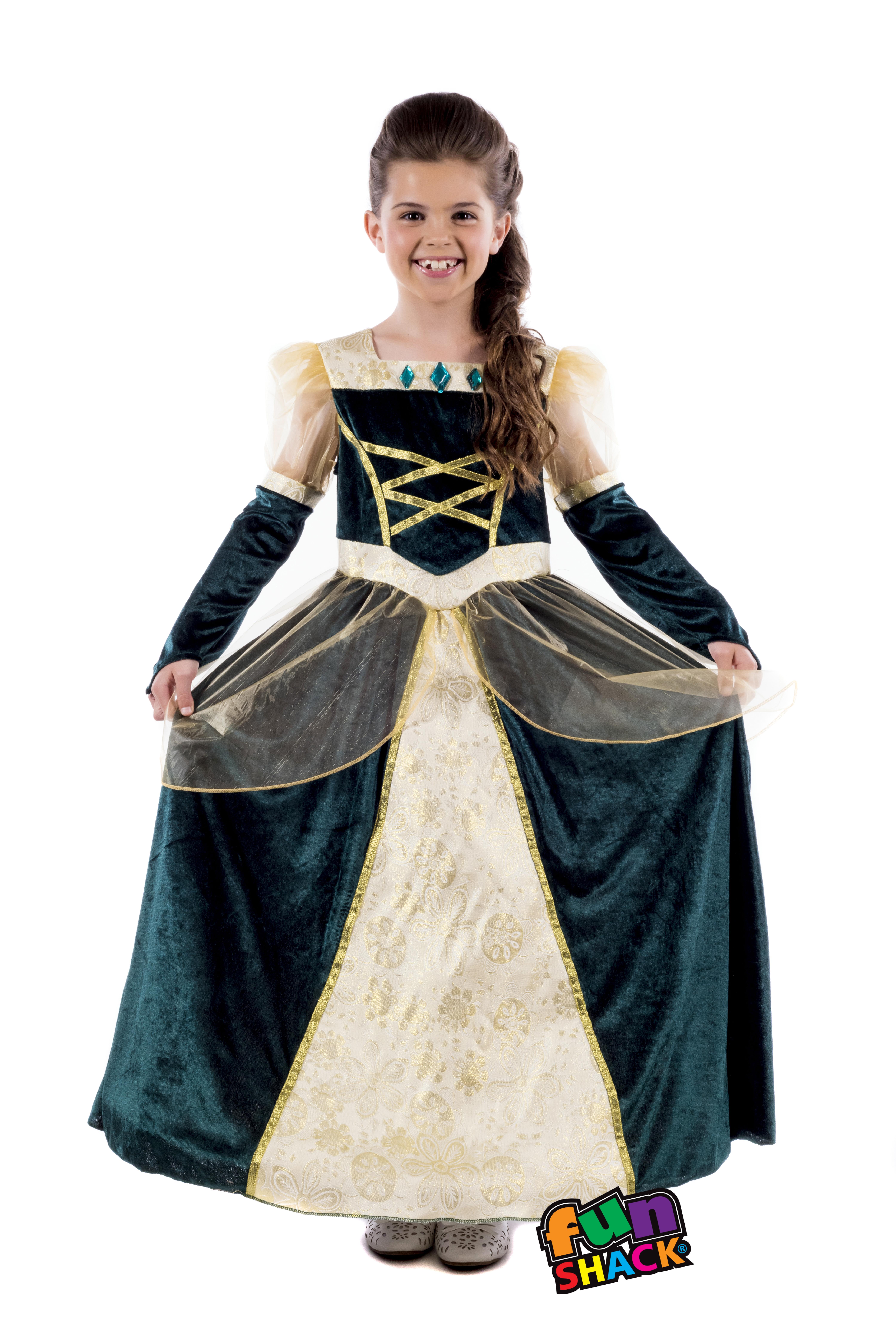 Girls Kids Childs Royal Ball Gown Alexandra Fancy Dress Costume ...