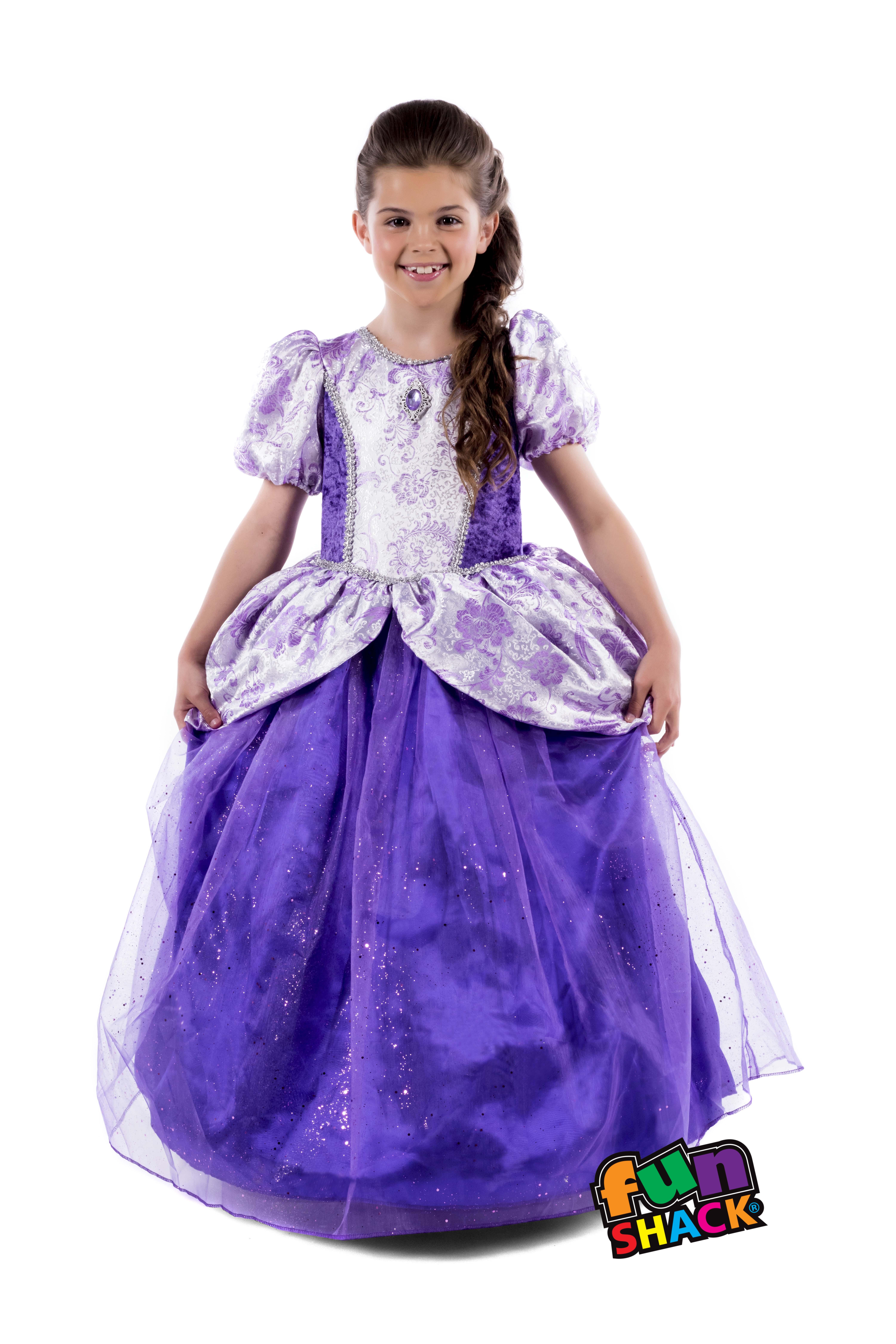 Girls Kids Childs Royal Ball Gown Charlotte Fancy Dress Costume ...