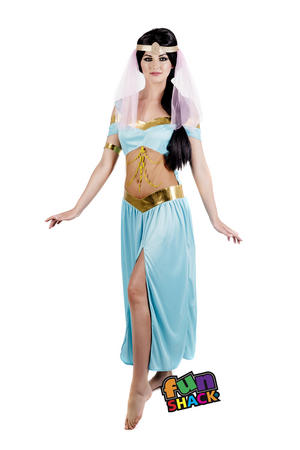 Womens Ladies Adult Arabian Princess Jasmine Fancy Dress Costume Outfit Uk 8-18