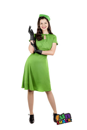 Womens Ladies Adult 40S World War 2 Fancy Dress Costume Outfit Ww2 Uk 8-26