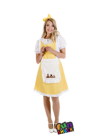 Womens Ladies Adult Goldilocks Book Week Fancy Dress Costume Uk 8-26