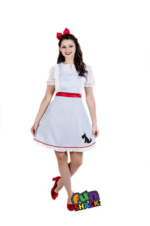 Womens Ladies Adult Dorothy Book Week Fancy Dress Costume Outfit Uk 8-26