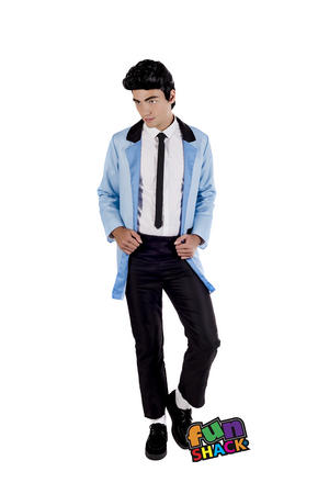 Mens Male Adults Teddy Boy  Rock N Roll Elvis 50S Fancy Dress Costume Outfit