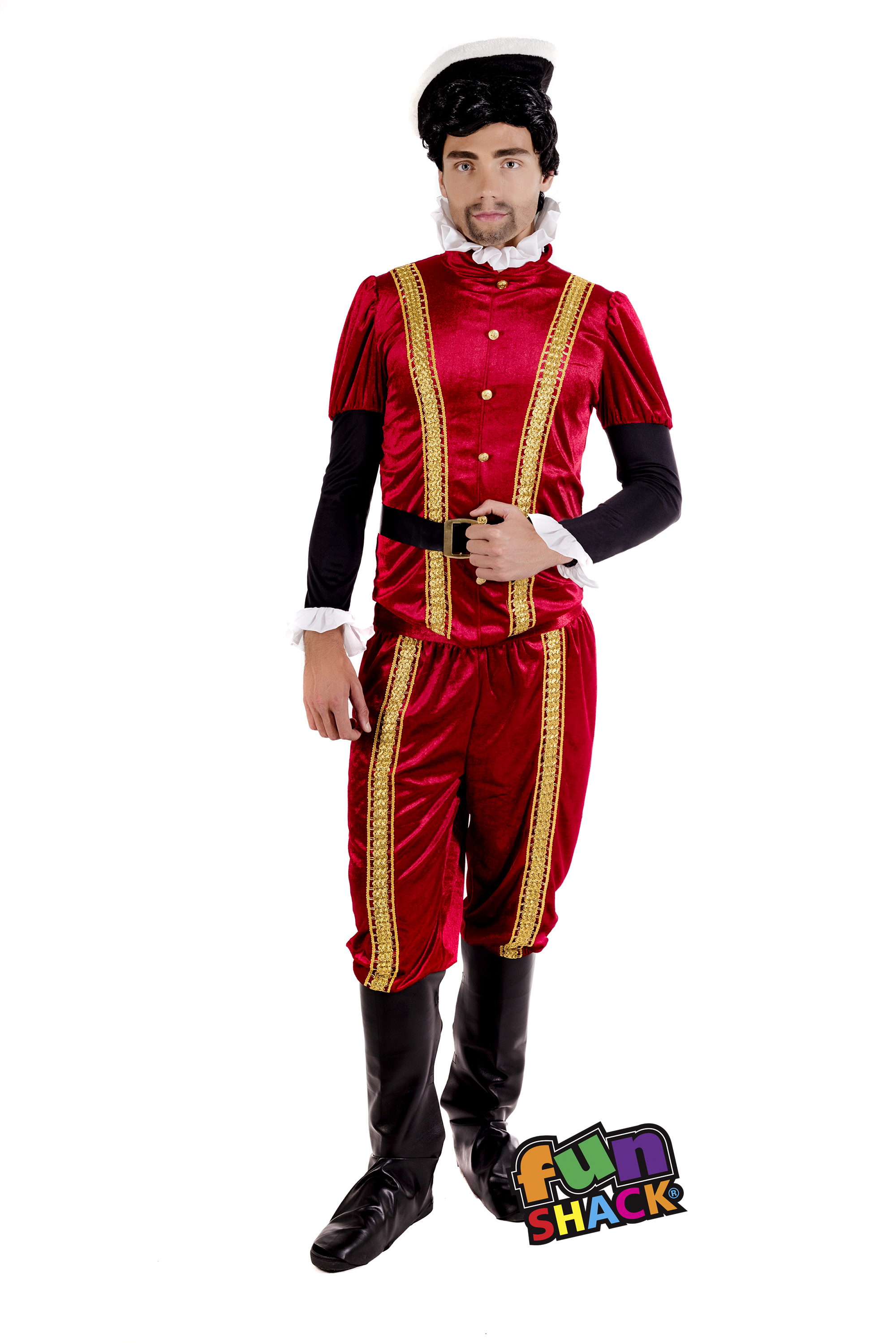 Mens Male Adults Tudor Earl Prince Medieval Lord Fancy Dress Costume Outfit