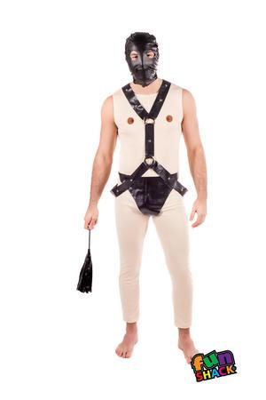 Mens Male Adults Gimp Suit Stag Do Party Idea Fancy Dress Costume Outfit
