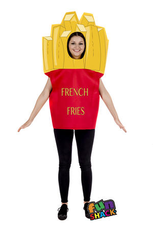 Adult Novelty Fries Chips Fancy Dress Costume Outfit Stag Do Hen Party