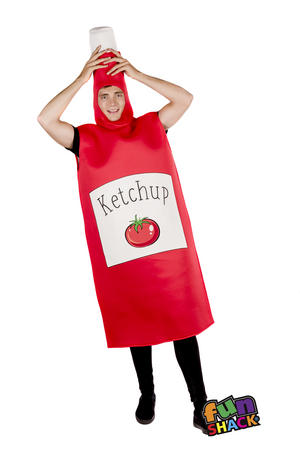 Adult Novelty Ketchup Bottle  Fancy Dress Costume Outfit Stag Do Hen Party