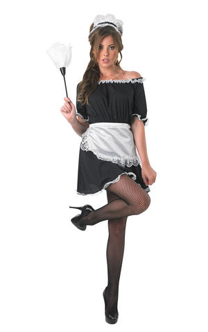 Ladies Womens Sexy French Maid Fancy Dress Costume Servant Outfit