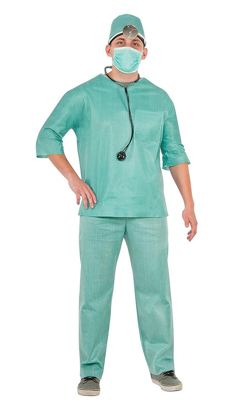 Surgeon Halloween Costume | Mens Doctor Fancy Dress Costume Surgeon Halloween Outfit Adult