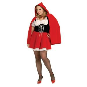 Ladies Little Red Riding Hood Fancy Dress Costume Halloween Outfit Adult