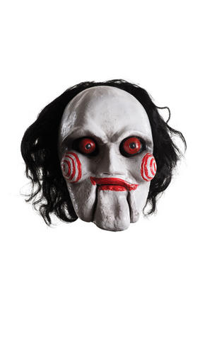 Billy Puppet Overhead Mask Saw Halloween Fancy Dress Costume Accessory Adult