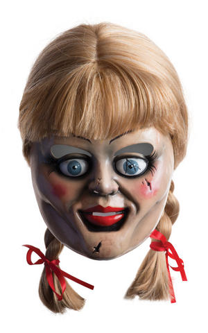 Annabelle Mask with Wig Conjuring Halloween Fancy Dress Costume Accessory Adult